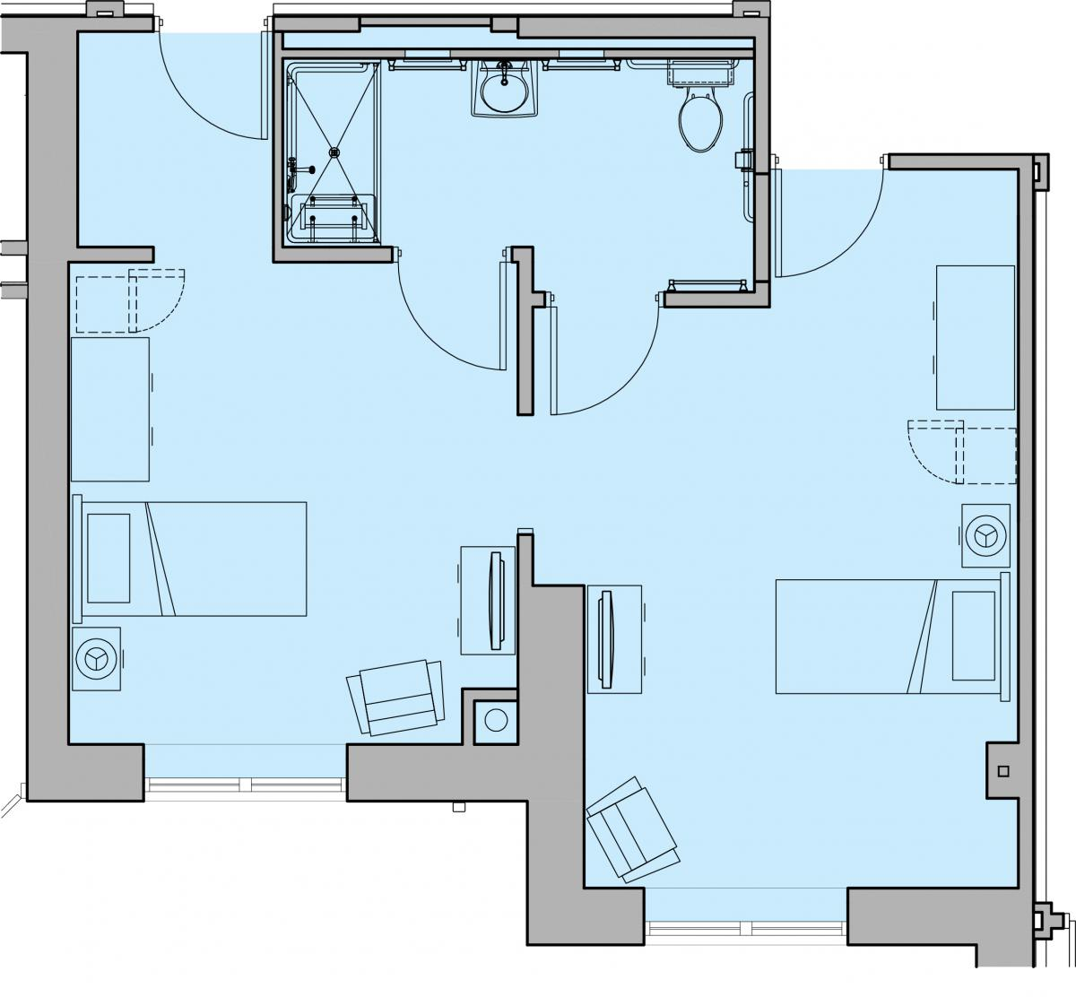 The Dove Suite Floor Plan